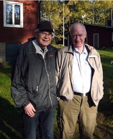 Ullmar och Harry vid NDL:s lyssnar-QTH i Väsby strax utanför Norrköping i oktober 2010.