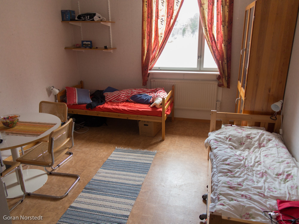 we have access to one bedroom with 4 beds there is also one small room with 2 beds and one room with 23 beds that we